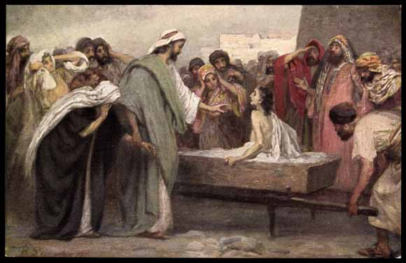 Jesus raises widow of Nain's son