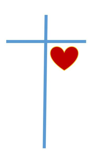 Cross with heart 2