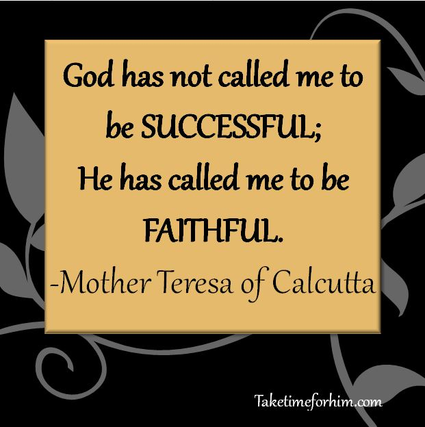God calls to faithfulness